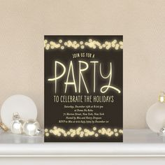 Soft Glow Party Invites