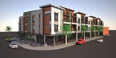 a mixed-use complex featuring 30 residential units and roughly 8,700 square feet of ground floor retail space.