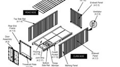 Free shipping container house technical drawing info