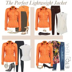 """""""Etcetera: Lightweight Amaretto jacket will take you Summer to Fall."""" by etcetera-nyc on Polyvore"""