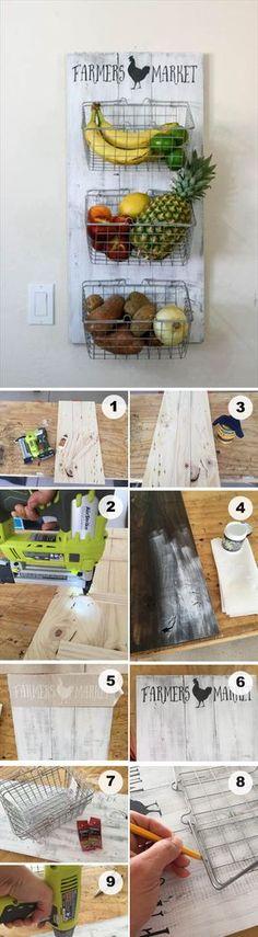 DIY Produce Rack