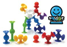 Squigz by Fat Brain Toy Co. - $24.95  Suction cup building toy