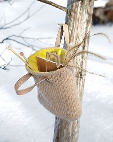 Knit Bag How-To from Martha Stewart