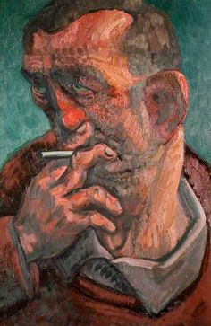 Man with a Cigarette, 1980s, Oil on canvas, 92 x 61.5 cm