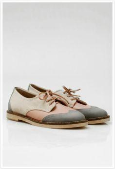 Oxford pastel shoes