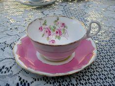 Royal Albert Mismatched Cup and Saucer Teacup Set Crownenina Pink Roses