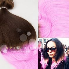 brown to pink ombre dip dye hair color 2015