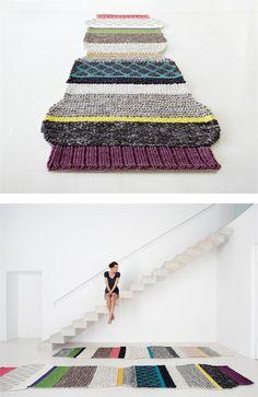 Striped wool #rug LARGAS ML1 by GAN By Gandia Blasco