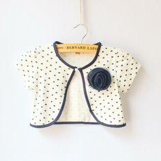 Free shipping Female child 100% short-sleeve cotton short cape outerwear small dot flower cardigan short shrug design $11.45