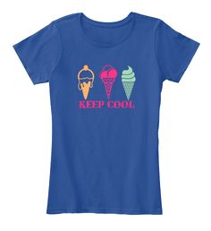 Keep Cool Deep Royal  T-Shirt Front