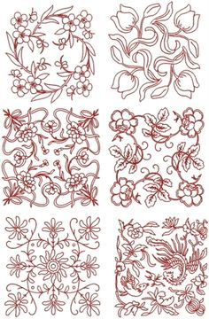Advanced Embroidery Designs - Quilt Block Set III.