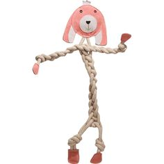 Rope Knotties - Bunny - Xlarge    Rope Knotties are the perfect toy for dogs that love to chew and tug! Made with an all-natural blend of cotton and hemp, each toy is super durable and great for tuggin' and tossin'! Also helps develop an interactive bond between dog and owner!