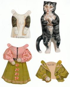 Dress-Up Cat Paper Doll