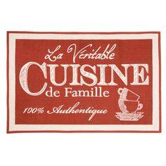 Tapis de cuisine 100% coton imprim� Cuisine rouge 60x90cm  CARPETTES