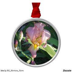 Iris Metal Ornament