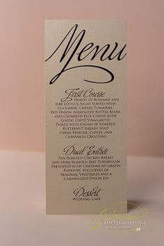 Love the font on the bold menu card!