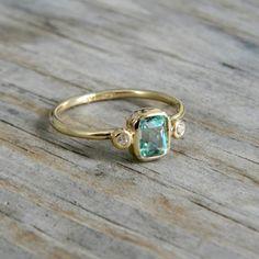 gold, diamonds + aquamarine