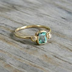 gold, diamonds + aquamarine: my birthstone