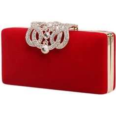 d80b652a71 Marca west Womens Evening Cocktail Wedding Party Handbag Clutch Purse  Wallet Decorative drill Red Large     Check this awesome image
