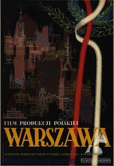 Polish posters: WARSZAWA -  Jan Knothe (1954)