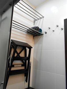 Сушилка в ванной, полки для полотенец