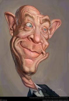 Cartoon People, Cartoon Faces, Funny Faces, Cartoon Art, Caricature Artist, Caricature Drawing, Funny Caricatures, Celebrity Caricatures, Hello Design