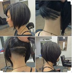 Short undercut messy bob