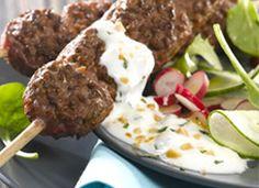#BBQ, #Sauce au Yaourt et aux cacahuètes : 2 yaourts brassé nature ou fromages blancs + 2 c à s de feuilles de menthe ciselées + 2 c à s de cacahuètes | #Socopa