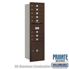 4C Horizontal Mailbox (Includes Master Commercial Lock) - 15 Door High Unit (55 Inches) - Single Column - 8 MB1 Doors / 1 PL5 - Bronze - Rear Loading - Private Access by Salsbury Industries. $585.00. 4C Horizontal Mailbox (Includes Master Commercial Lock) - 15 Door High Unit (55 Inches) - Single Column - 8 MB1 Doors / 1 PL5 - Bronze - Rear Loading - Private Access - Salsbury Industries - 820996411921