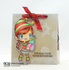 some odd girl christmas card | Treat Box using Warm Wishes Tia (clear) by Isha Gupta.