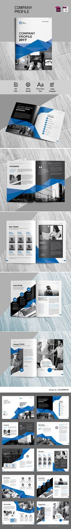 Company Profile — InDesign INDD #corporate #indesign • Download ➝ https://graphicriver.net/item/company-profile/19617015?ref=pxcr