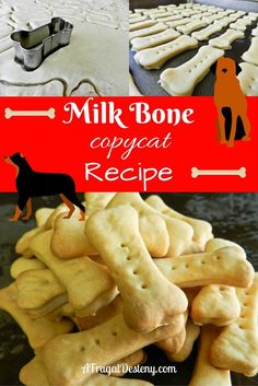 Have you ever wondered how to make a biscuit just like Milk Bones at a fraction of the cost? Well look no further!