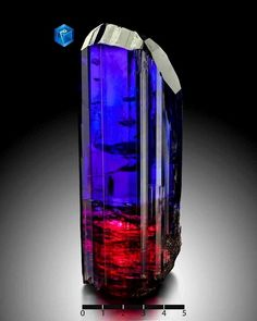 Tanzanite is noted for its remarkably strong trichroism, appearing alternately blue, violet and burgundy depending on crystal orientatio...