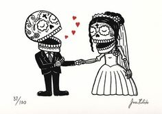 Zombie love Wedding cards