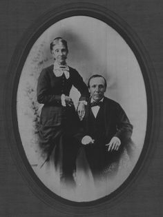 Matthew Parrott & wife Elizabeth.  My 2nd Great Grandparents.  He was wounded at the battle of Resaca while serving with Company A, 42 Indiana Volunteer Infantry. (from the same county as the men of the 25th Indiana Volunteer Infantry in which Alexander Kirkpatrick served. The daughter of Alexander Kirkpatrick, Mary Alice Kirkpatrick, married the son of Matthew Parrott).  Note Elizabeth's left hand is covering his right arm which was disfigured by a musket ball at the Battle of Resaca…