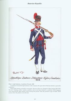 Batavian Republic: Plate 1. Light Infantry, Carabiner Private, 1802