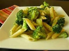 broccoli with pasta. saute with garlic and olive oil