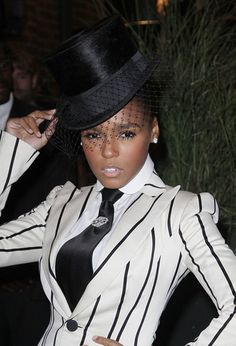 Janelle Monae in stripes