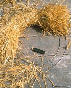 Making Straw Wreaths