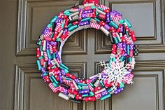 Frozen-party-wreath by She's Kinda Crafty for GreyGrey Designs