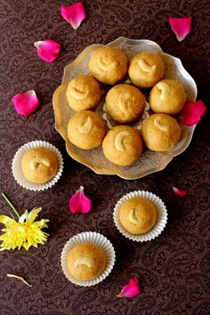 Besan ladoo recipe, a gluten free, traditional Indian sweet made with chickpea flour and ghee for festivals like Diwali & Ganesh Chaturthi puja
