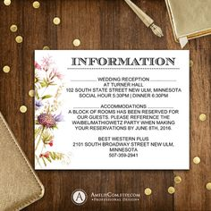 Printable Detail Cards, Information Card, Direction Card, Info Card Rustic wildflowers Summer Garden theme Wedding Editable INSTANT DOWNLOAD