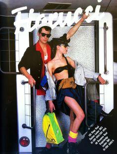Vintage Inspiration: Photo 1980s advertisement for Fiorucci fashion boutique in London