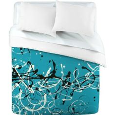DENY Designs Madart Modern Design 2 Duvet Cover, Queen by DENY Designs. $189.00. Fabric Ultra soft, 100-percent polyester microfiber. Metal snaps for closure. Color-Top Full color | Color-Bottom White. Closure Metal snaps seen in snap closure view. Manufacturing 6 color dye process, custom printed for every order. Turn your basic, boring down comforter into the super stylish focal point of your bedroom with this DENY Designs duvet cover. Custom printed when you order it, this...