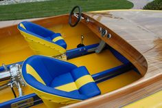 Restored Race Boat. Wood deck fiberglass classic flat bottom w/ Casale V-Drive and Side Oiler 427 Ford engine