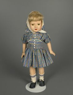 """20"""" composition Anne Shirley doll from the """"American Children"""" series, sleep-eye version, United States, 1936-39, designed by Dewees Cochran for Effanbee Doll Company."""