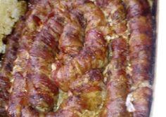 Baconos karaj anyuci módra   Anyuci receptje - Cookpad receptek Bacon, Food And Drink, Breakfast, Recipes, Morning Coffee, Ripped Recipes, Pork Belly, Cooking Recipes