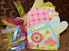 Spring Paper Bag Scrapbook Album Flowers Bird Butterflies Great for Mother's Day | eBay
