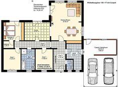Winkelbungalow 130 17 Carport Einfamilienhaus Neubau Massivbau Stein auf Stein