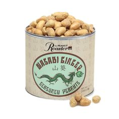 Check it out ginger #wasabi flavored #peanuts! A unique nose-tickling flavor! Stimulating wasabi vapors are infused with ginger root to create an exciting flavored peanut. The Peanut Roaster | peanut.com | $6.95